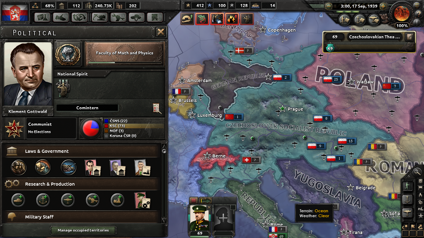 The Sleeping Lion - Czechoslovakia mod for Hearts of Iron IV