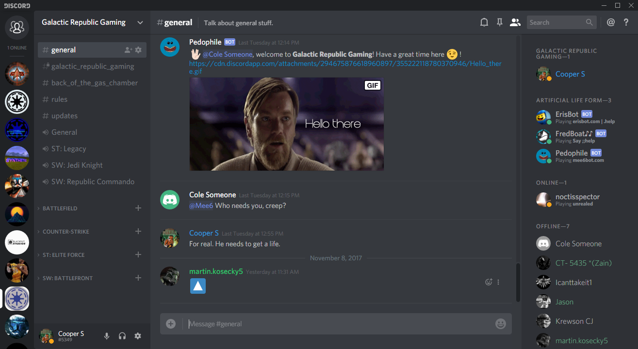 Discord Server news - Troika mod for Star Wars: Republic