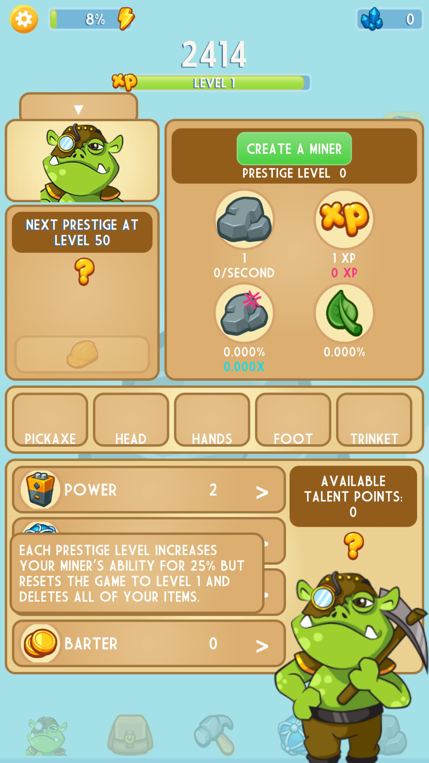 Screenshot Talent Points