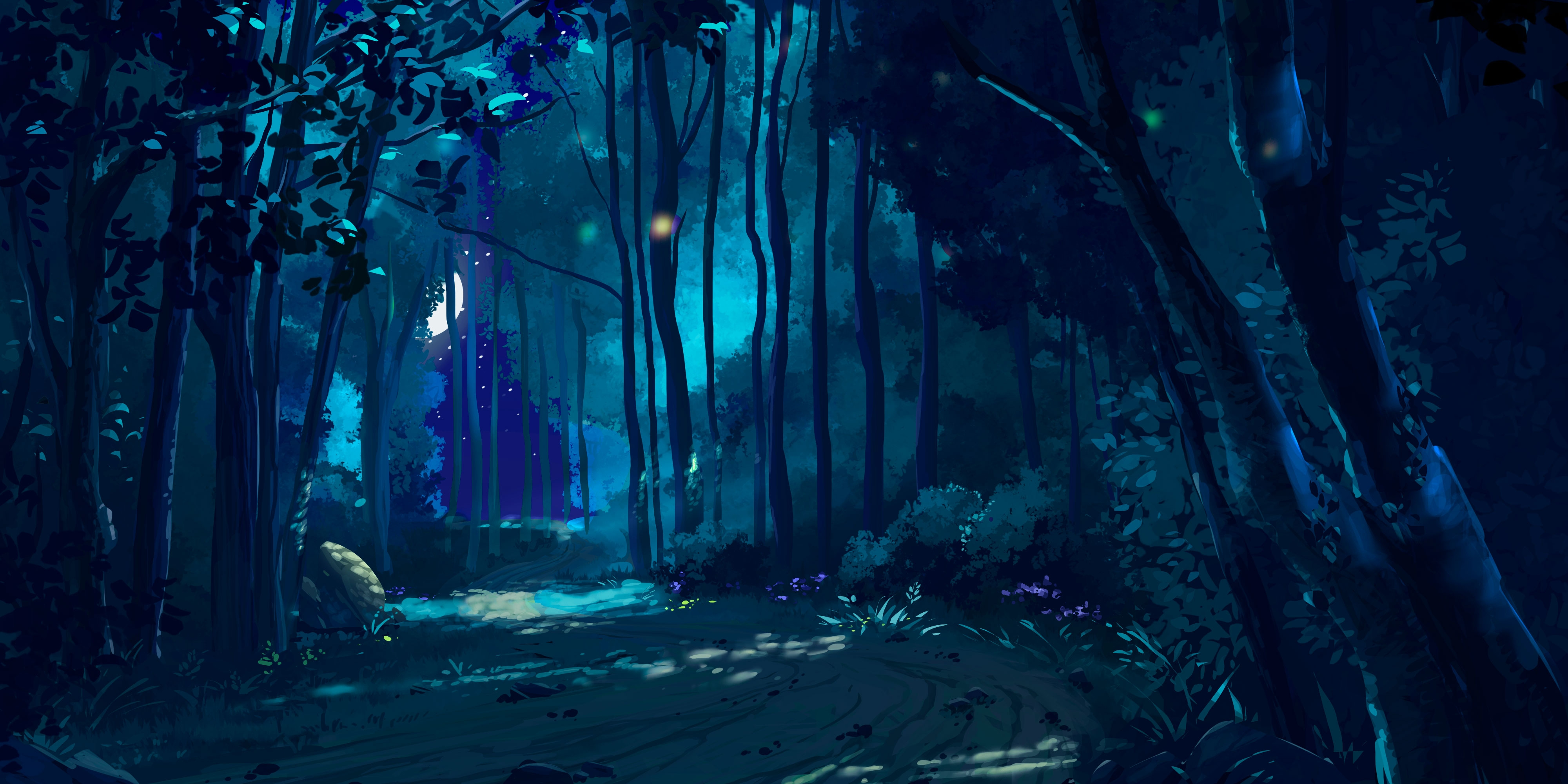 forest pathway night