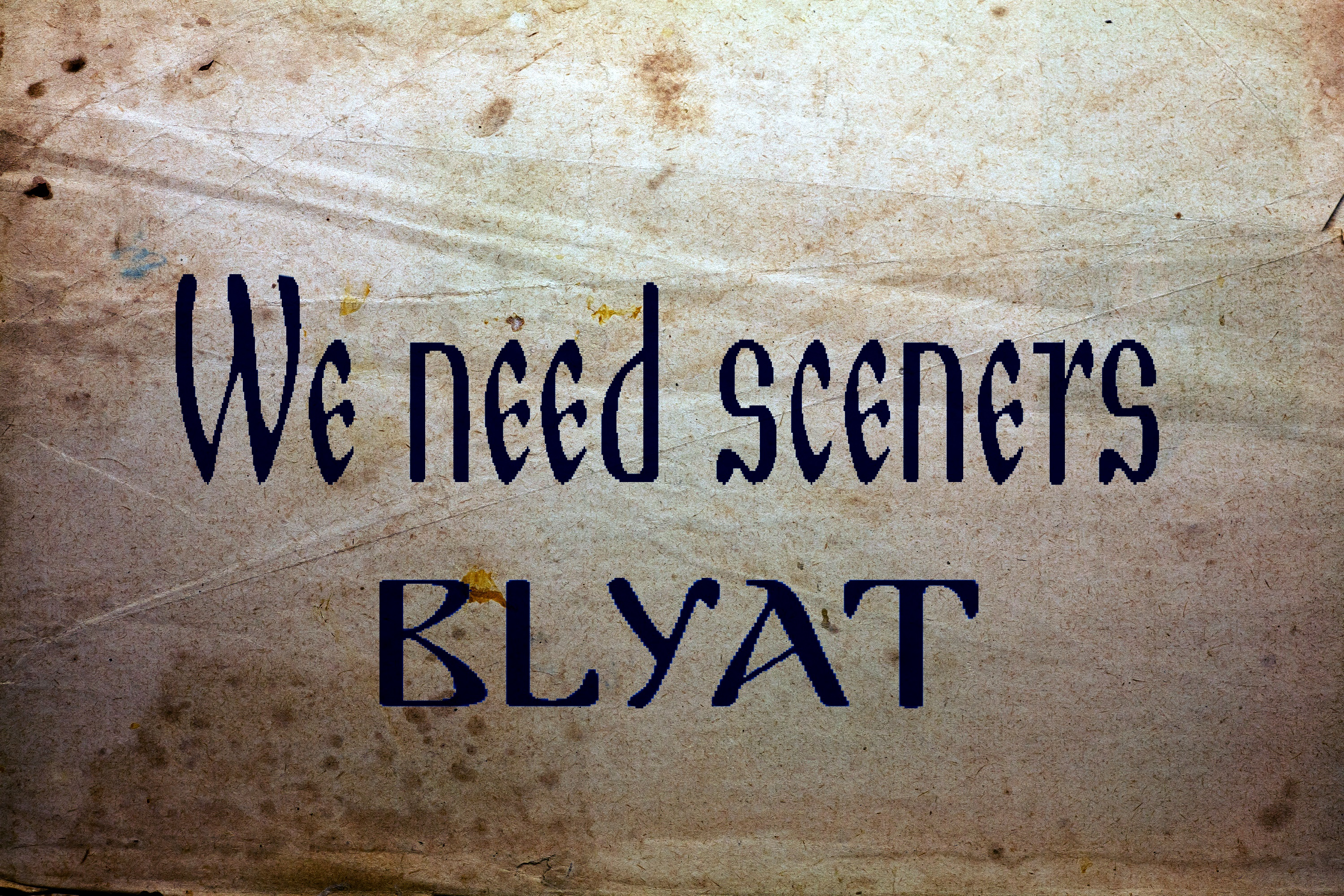 we need sceners blyat