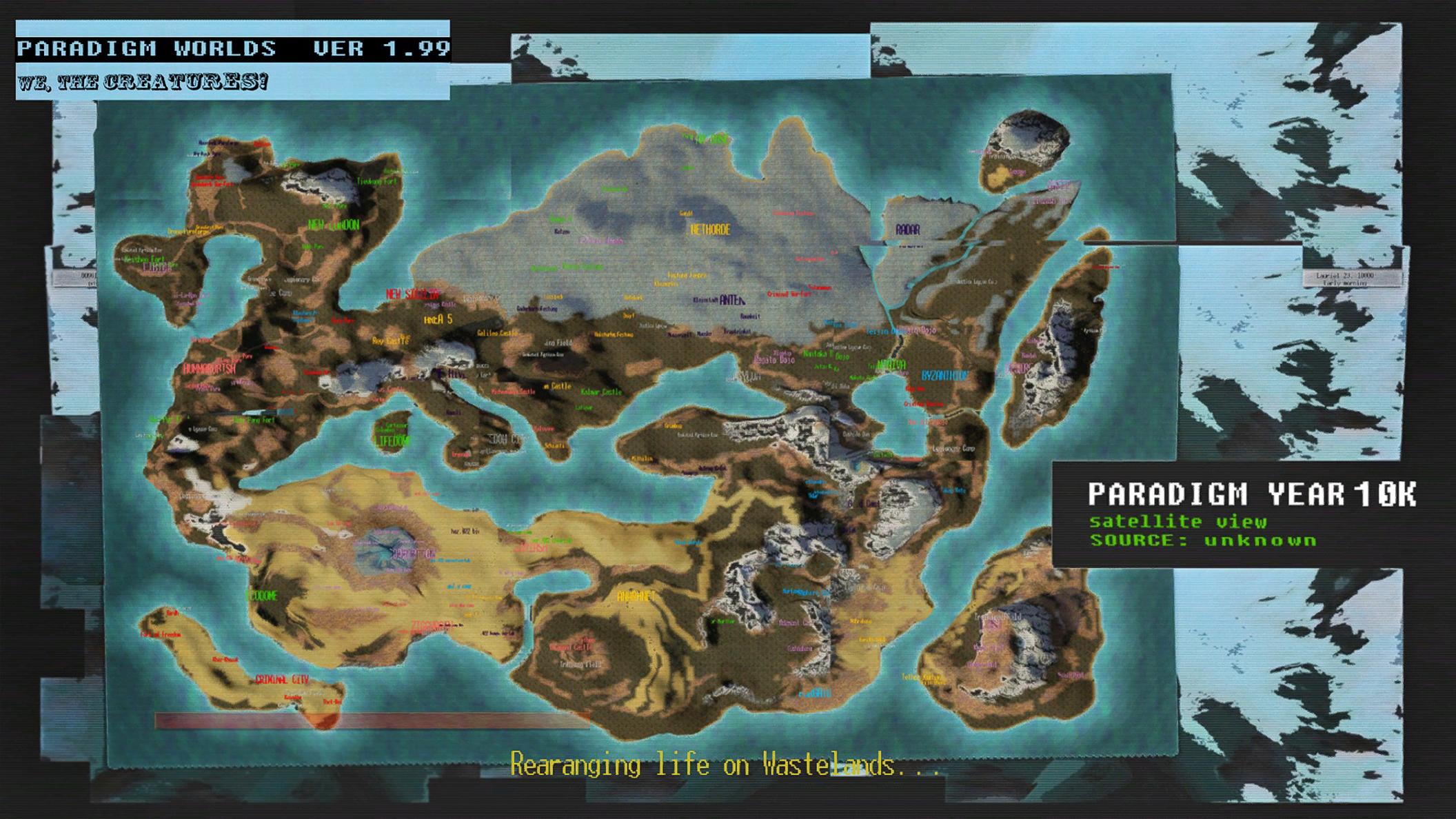 PARADIGM WORLDS Map