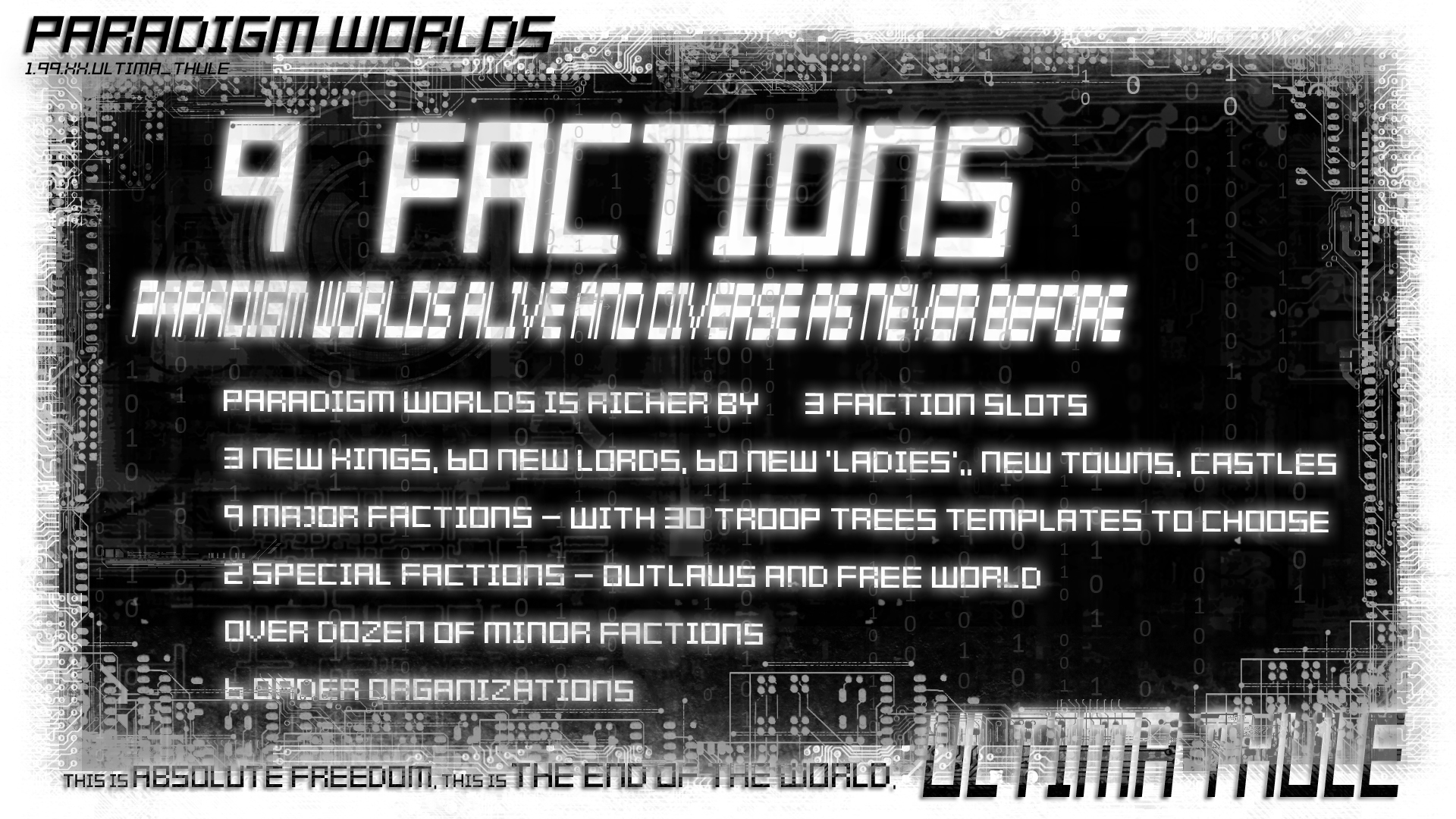 pw ULTIMA THULE a3 9factions sl
