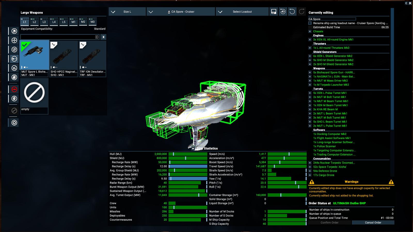Spore-class mutant Cruiser