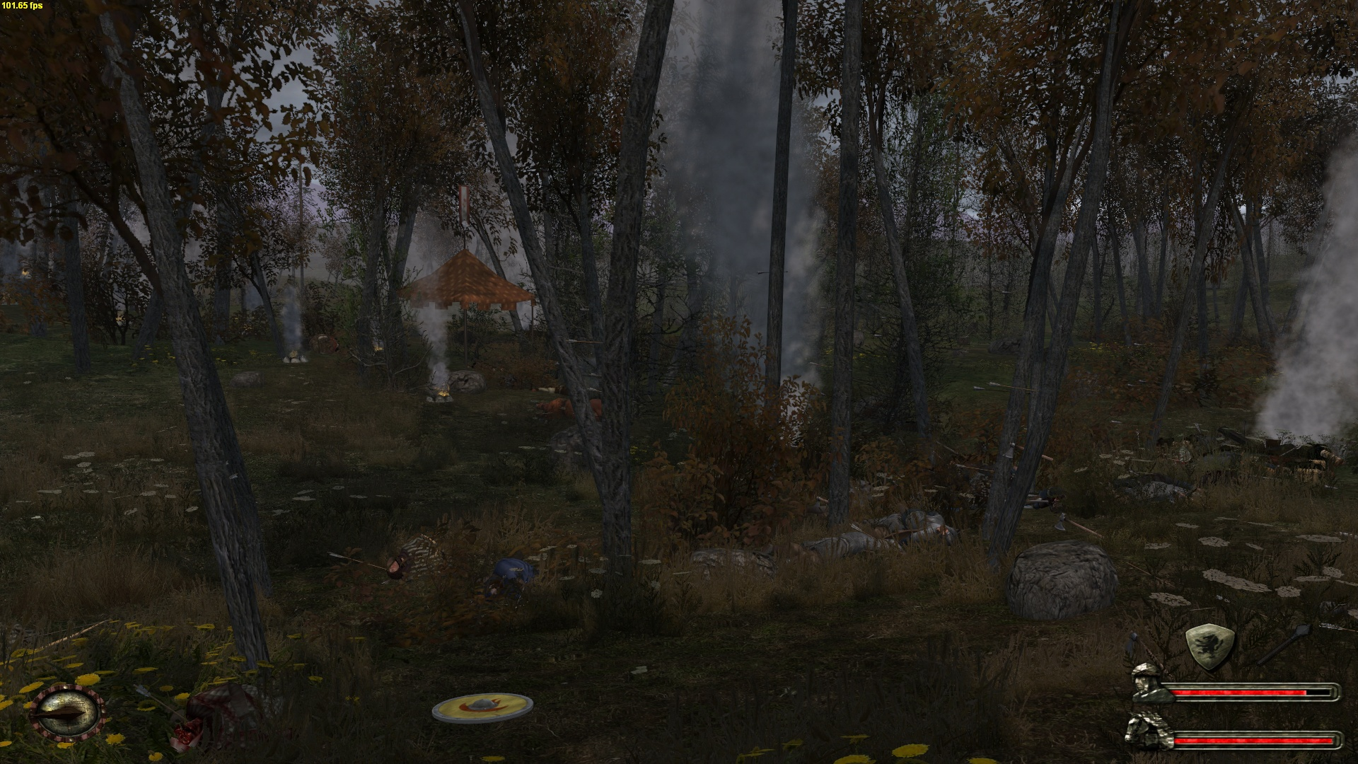 Aftermath of a camp attack