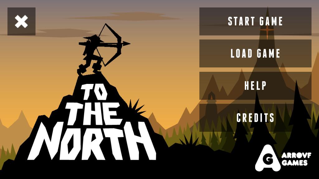 To The North, main menu