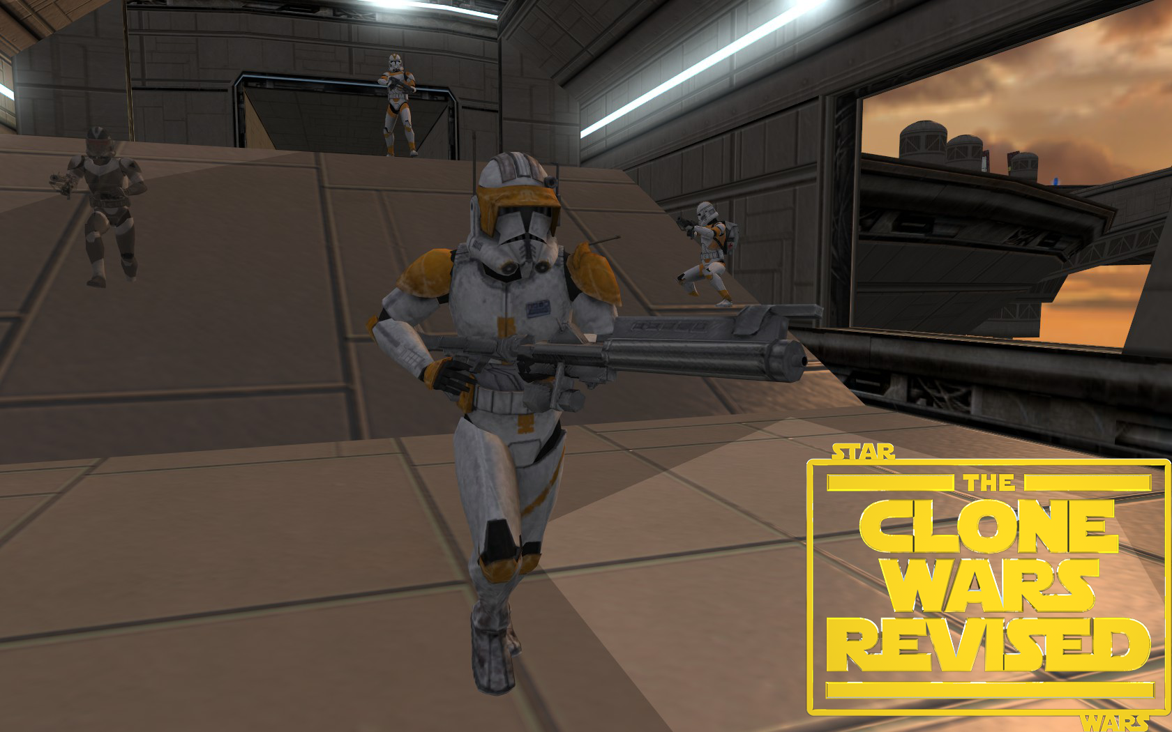 Commander Cody on Bespin Platfor