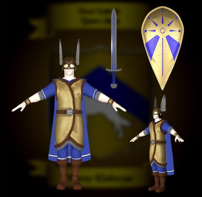 Norse Einherjar Rendering