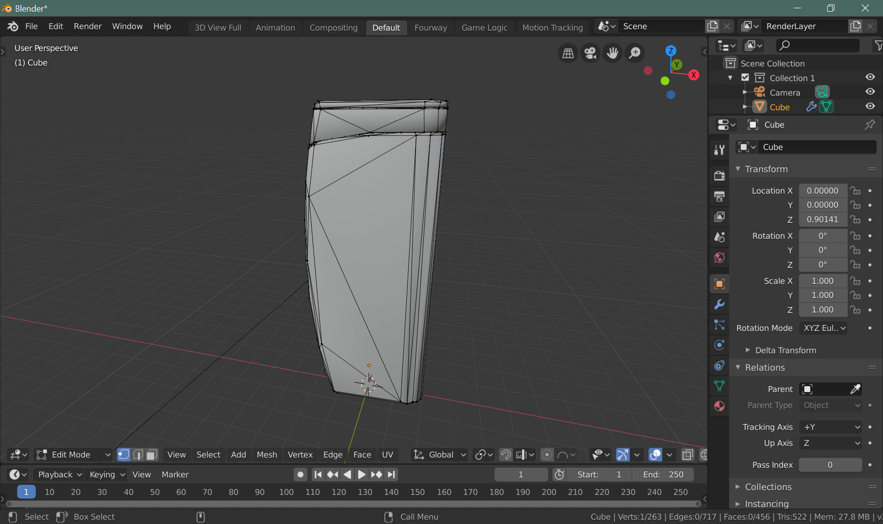 Importing level geometry from Blender tutorial - F E A R