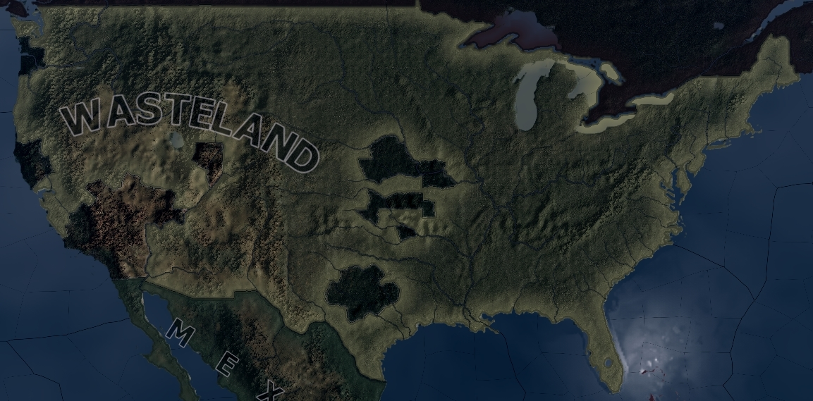 Fallout Aftermath Mod For Hearts Of Iron IV Mod DB - Fallout game map of us