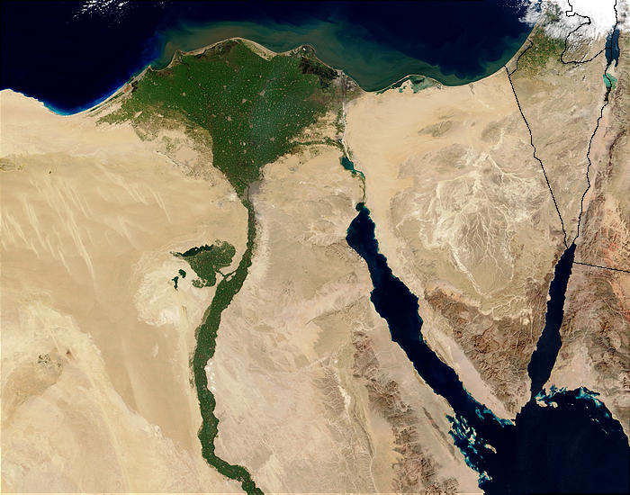 Nile River and delta from orbit