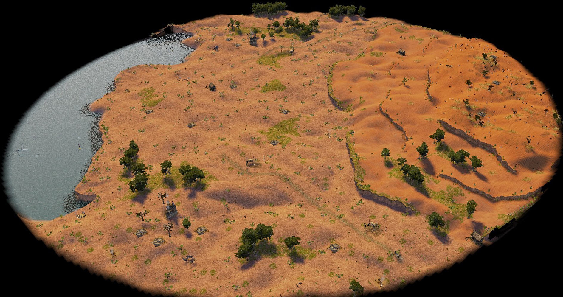 The entire map view