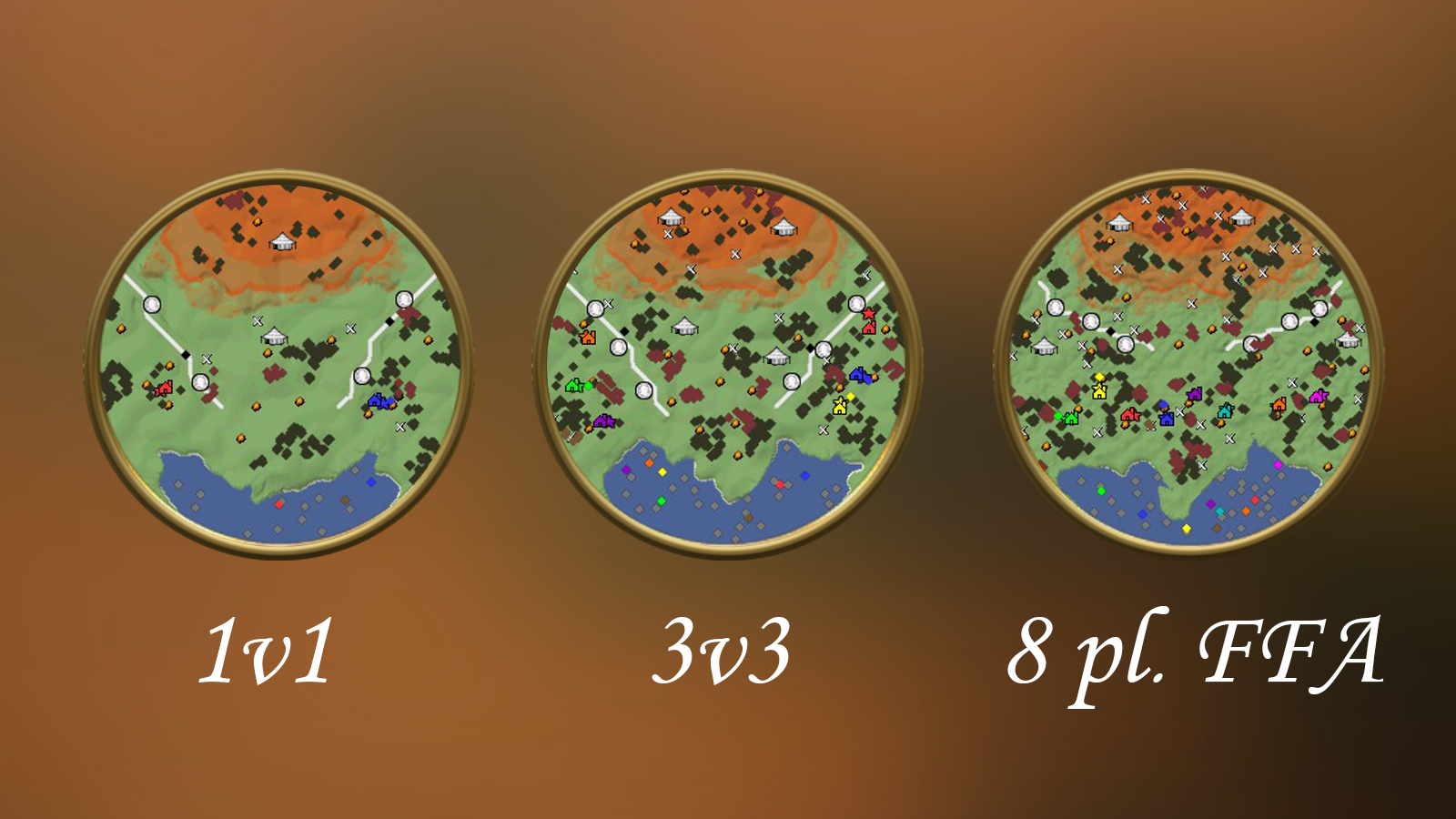 Minimaps for different configurations