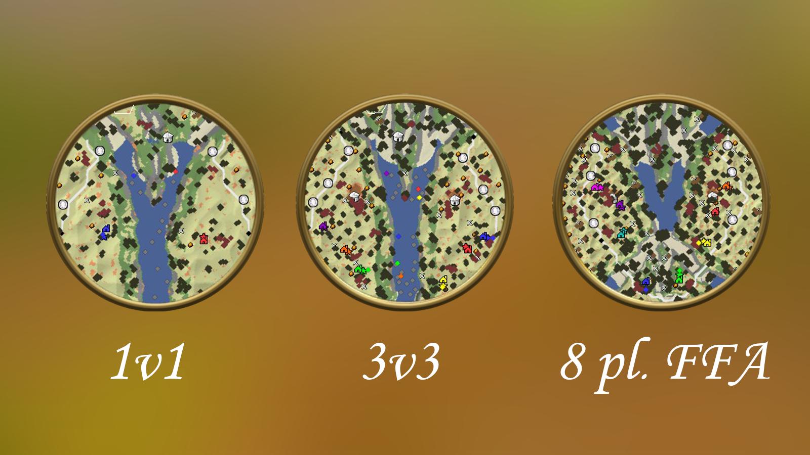 Minimaps in different configurations