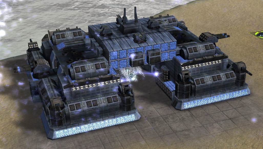UEF Tech 3 Fortress builds some Landunits