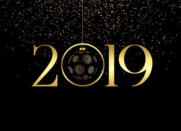 premium happy new year 2019 back