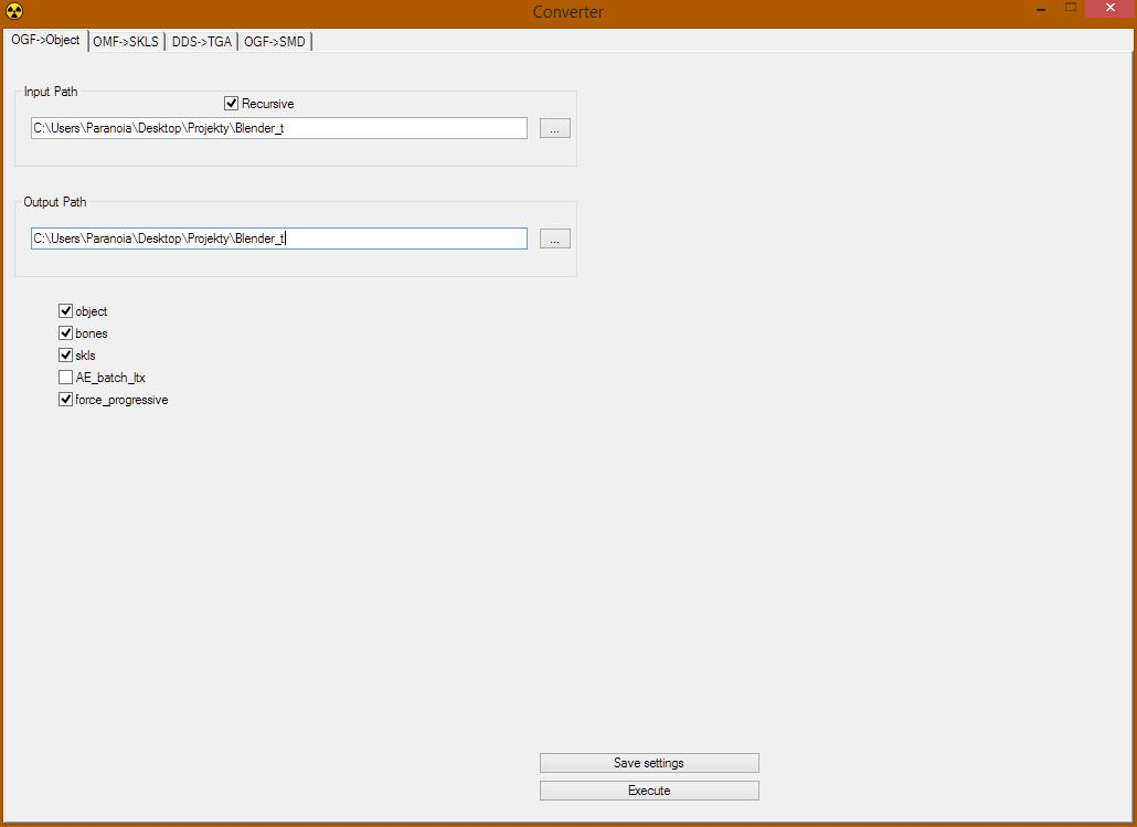 Basic of importing and exporting Stalker ogf files using