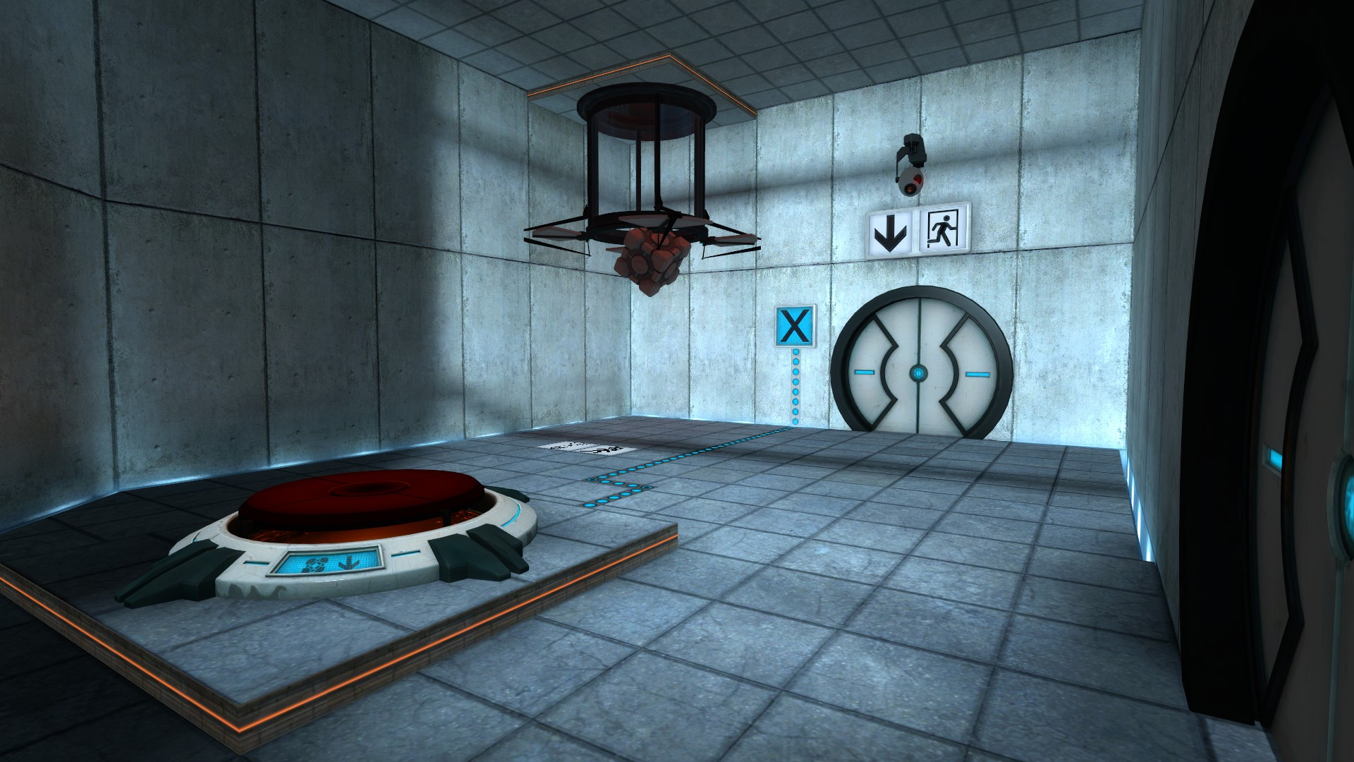 The first test chamber