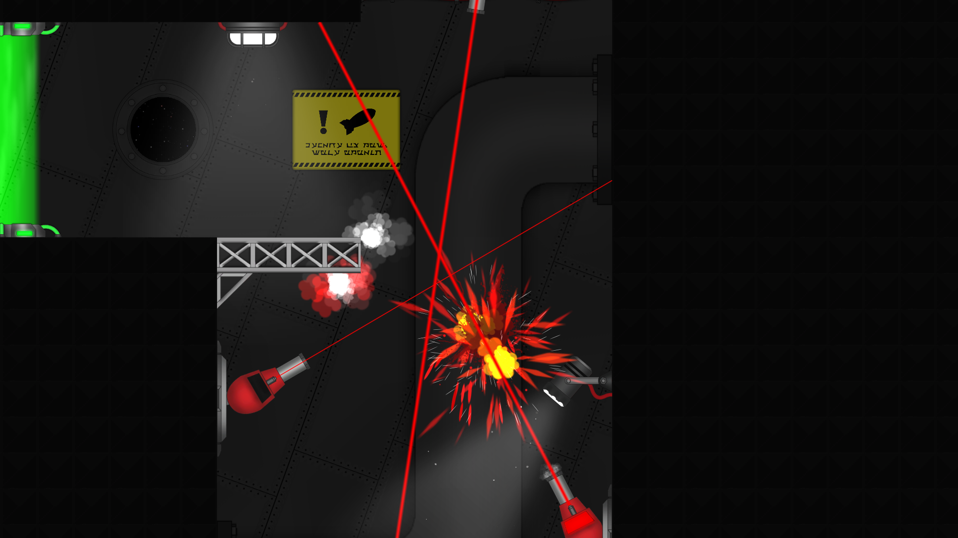 Oops too slow... Those missiles sure pack an explosive punch.
