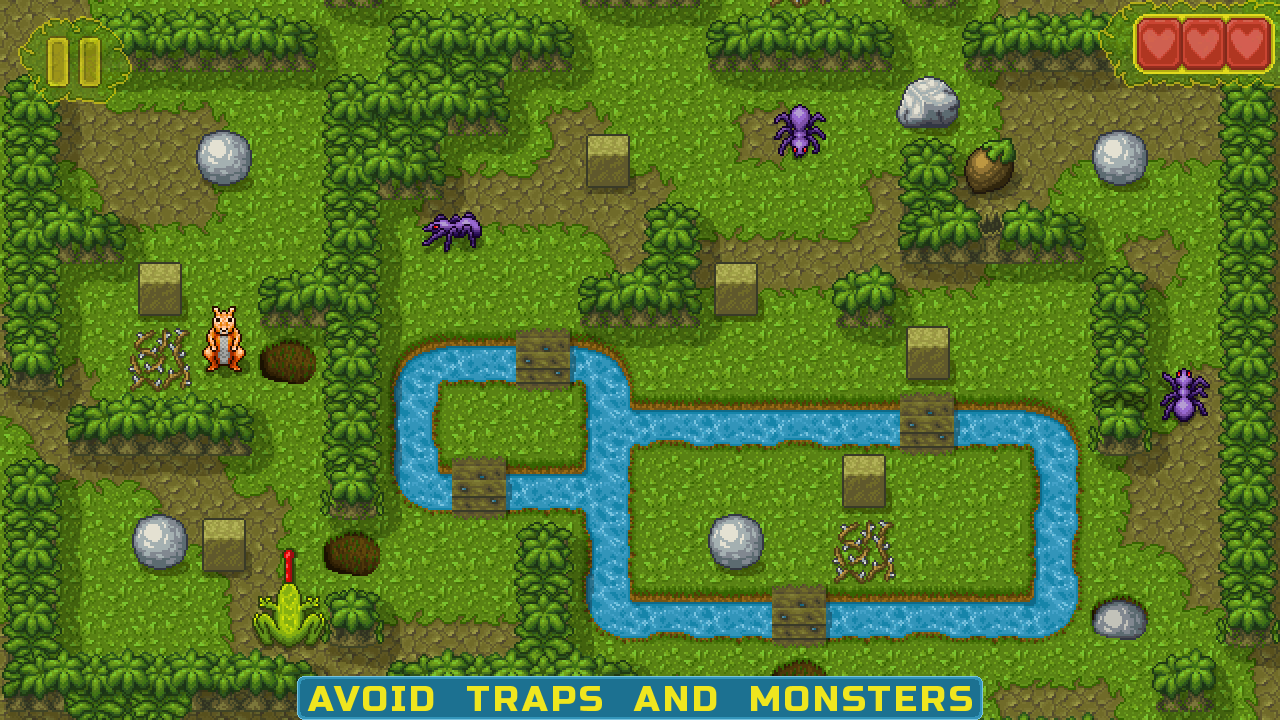 avoid traps and monsters