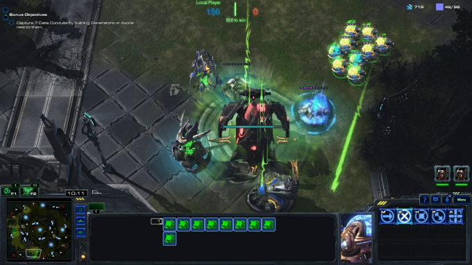 In this patch, one of the new structures causes your command centers to generate force fields for allied units.