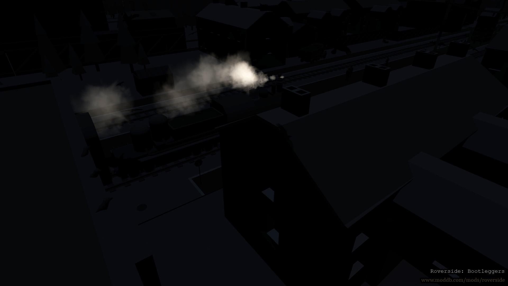 Night outside the window