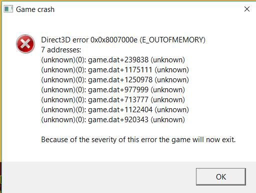 error parsing