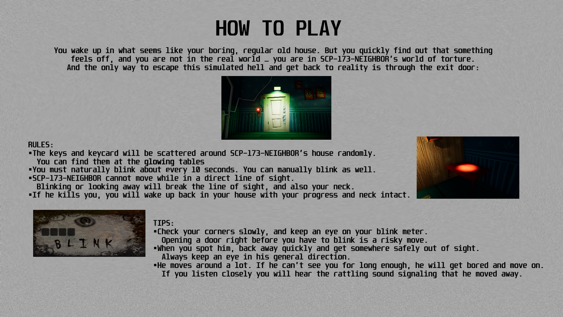 How to play screen