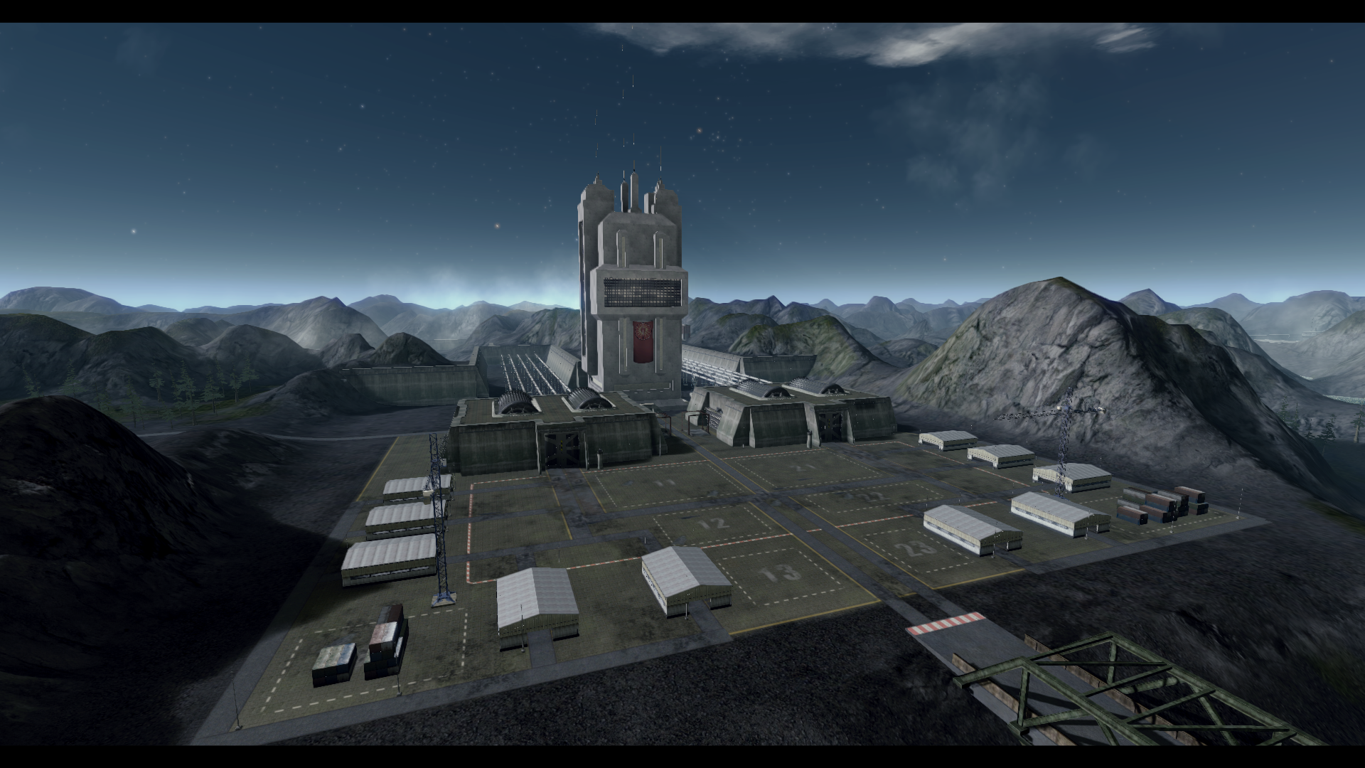 Overview of one of the main bases on TC_Outskirts