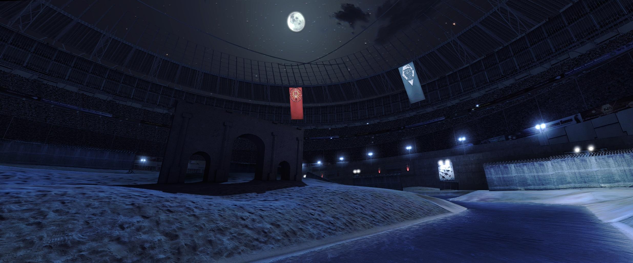 SA Gladiator at night