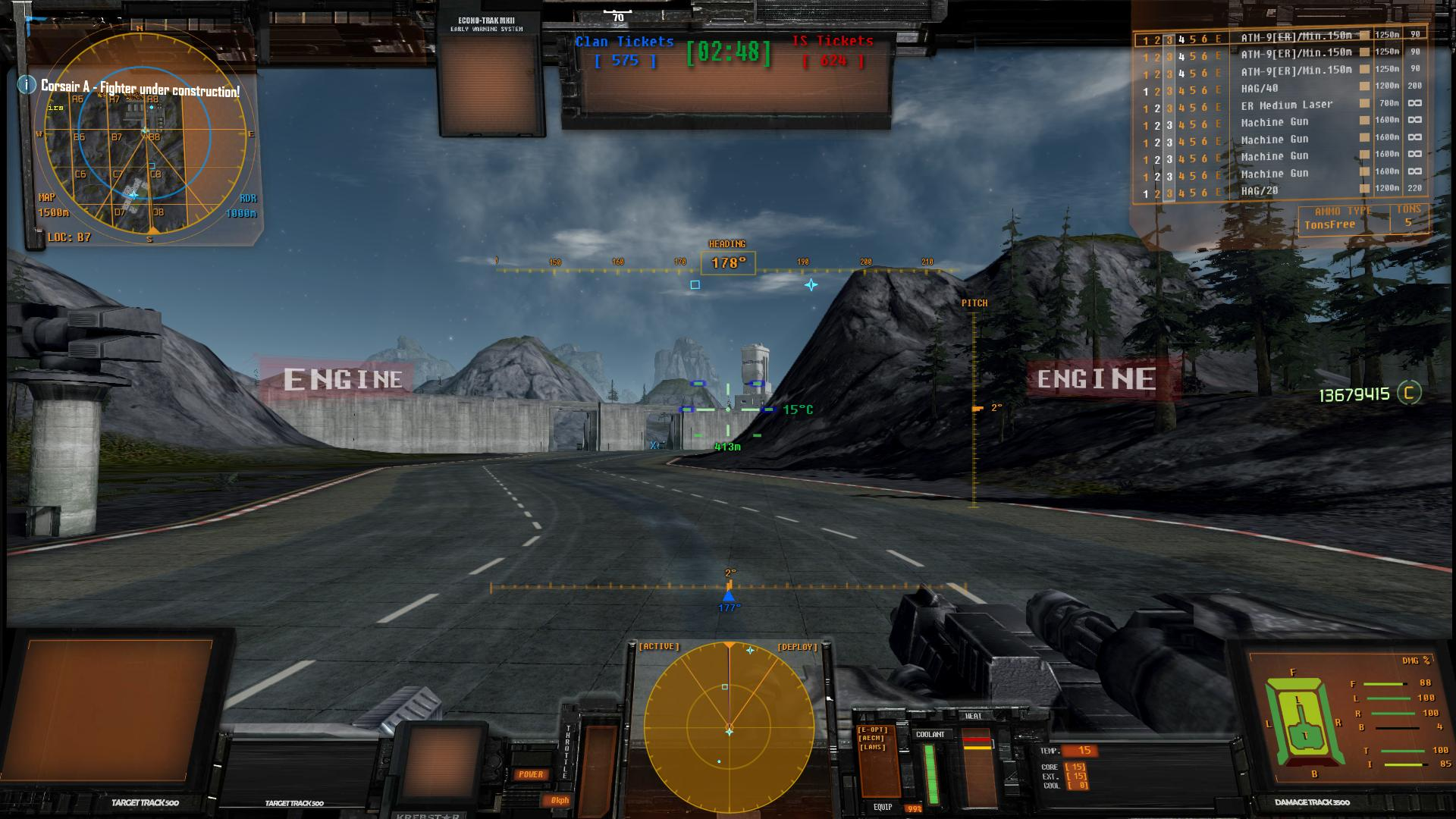 New Tank HUD with Engine Breach Alert