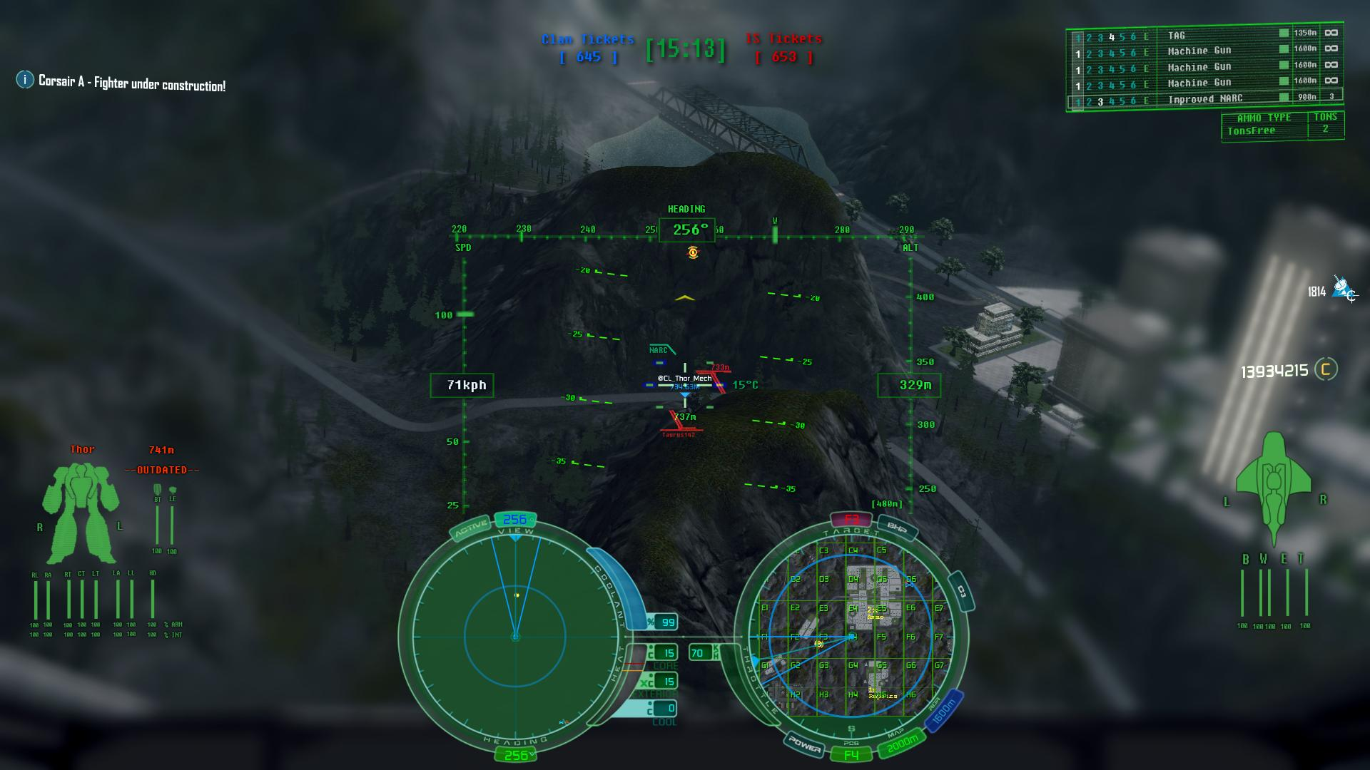 New VTOL/ASF HUD with Updated Crosshair and Info Display
