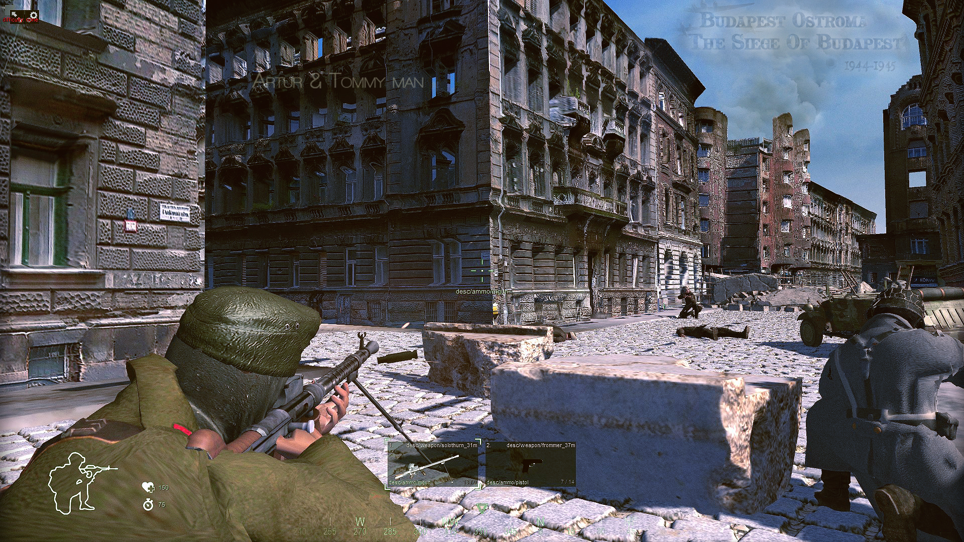 Budapest ostroma,1944-45,Mod,game,Jatek,Update,