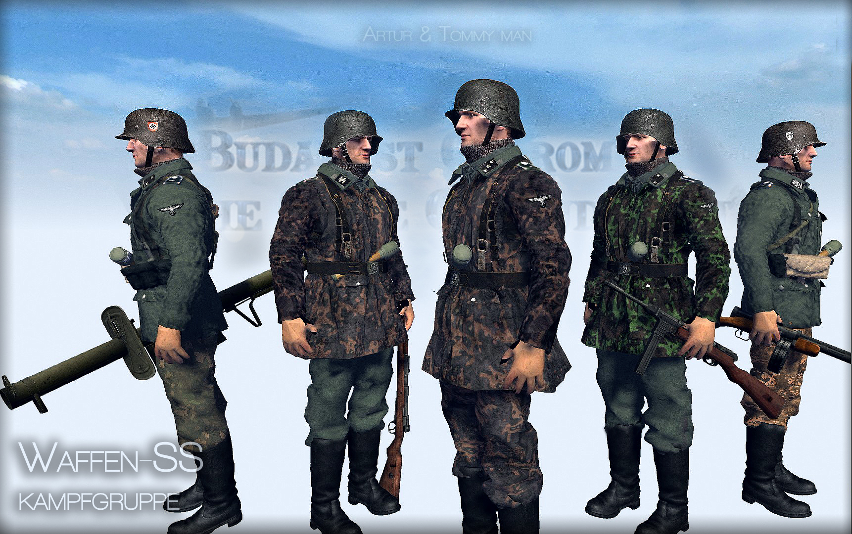 Waffen ss,Budapest siege,1944-45,ostrom