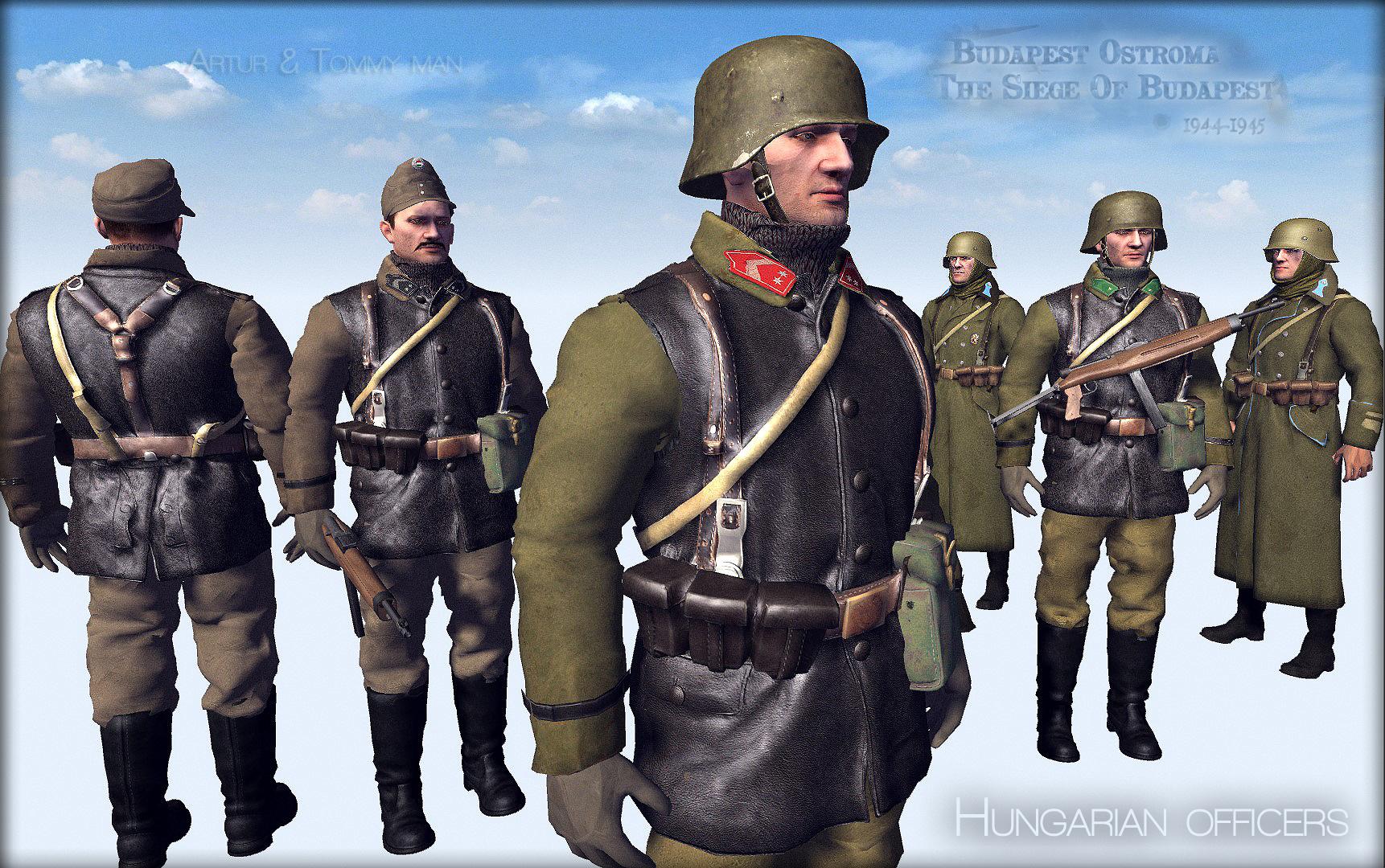 Magyar tisztek,Hungarian officers,Budapest siege,ostroma 1944-45