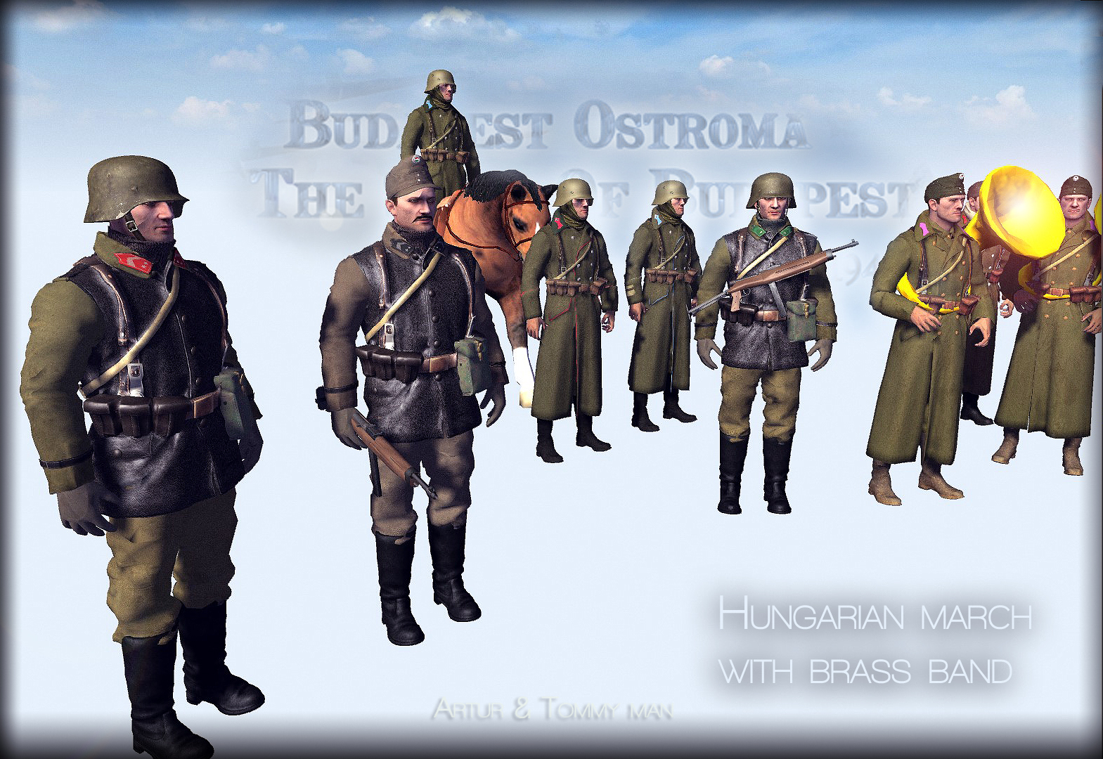 Royal Hungarian army march with Brass,Fúvósok  Honvédek