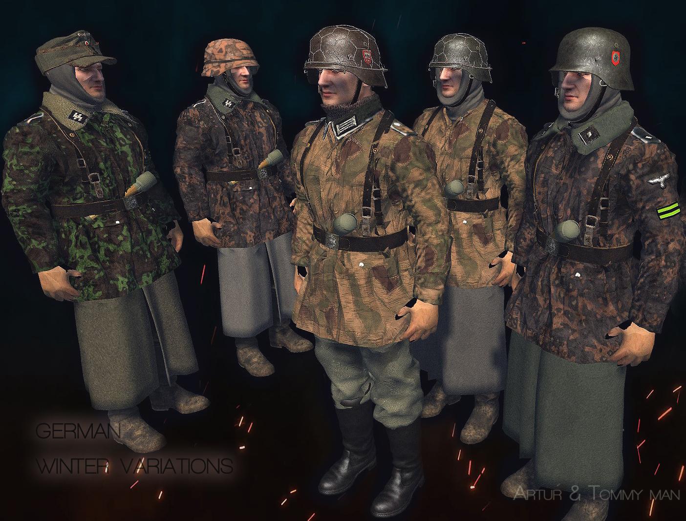 Waffen SS & Feldherrnhalle wINTER uNIFORMS 1944-45 Budapest