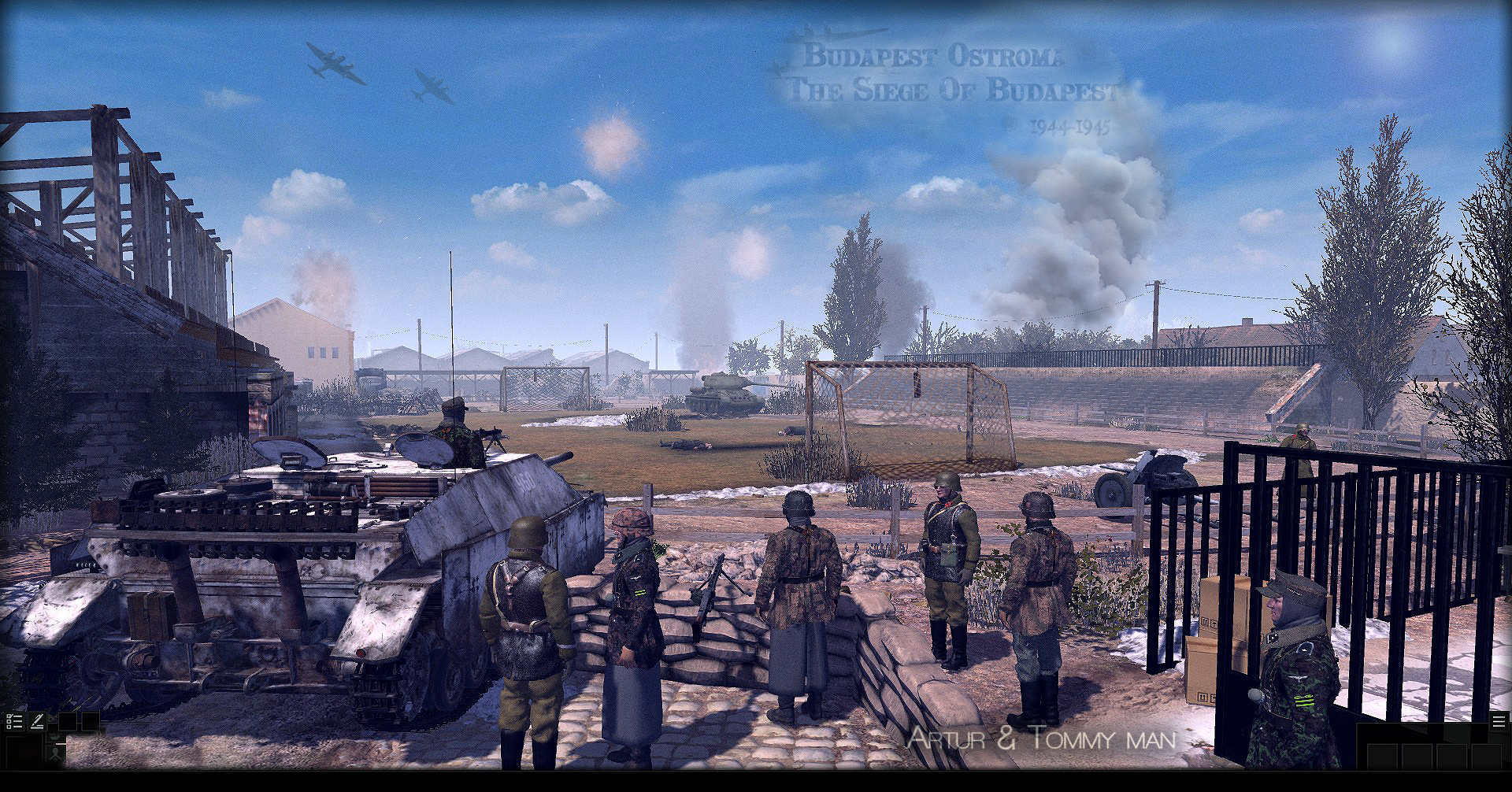 Hungarian units with German troops in Budapest Fight,Epic
