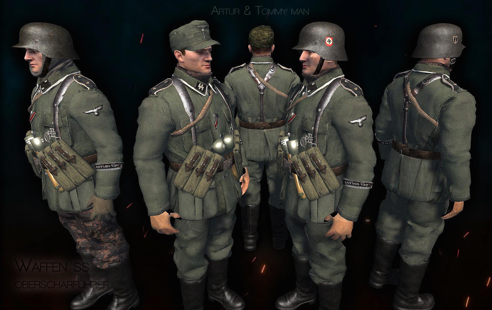Waffen SS,Oberscharführer,Budapest siege mod,Models