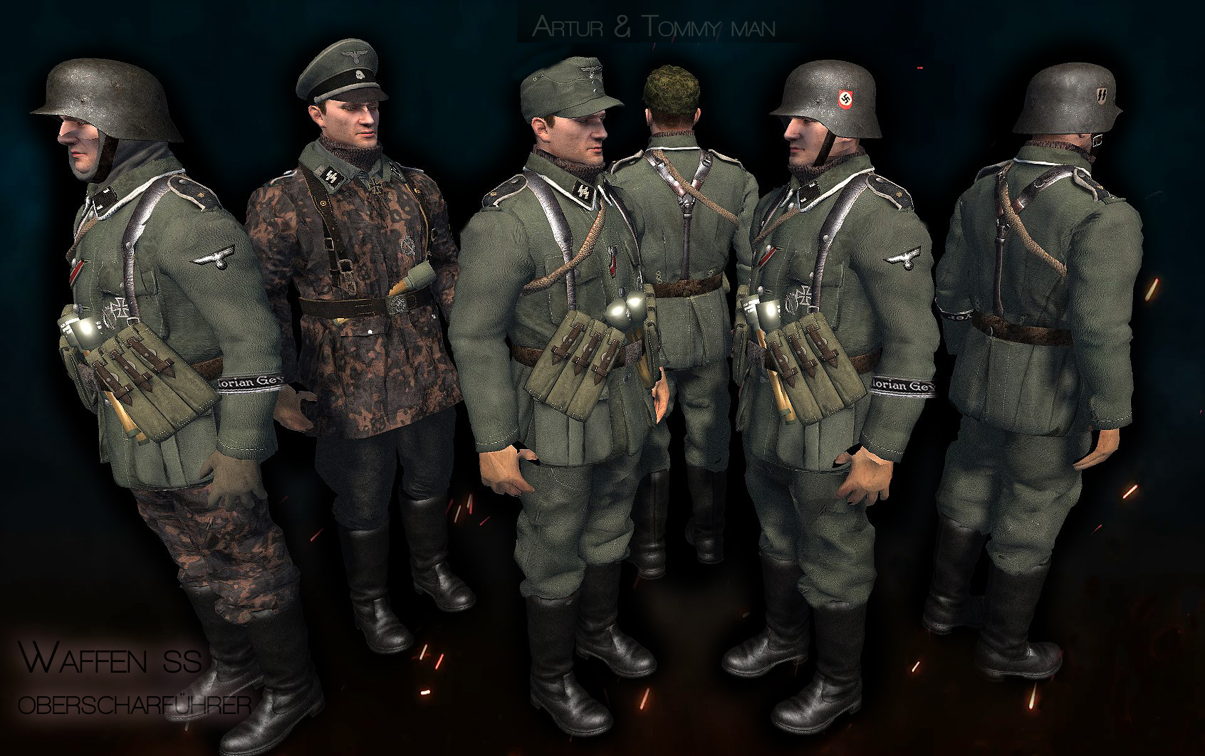Waffen ss Models in Budapest siege mod.1944-45.
