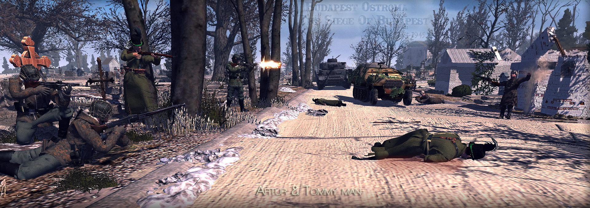 Harc a Farkasréti Temetőben,Budapest ostroma jatek,