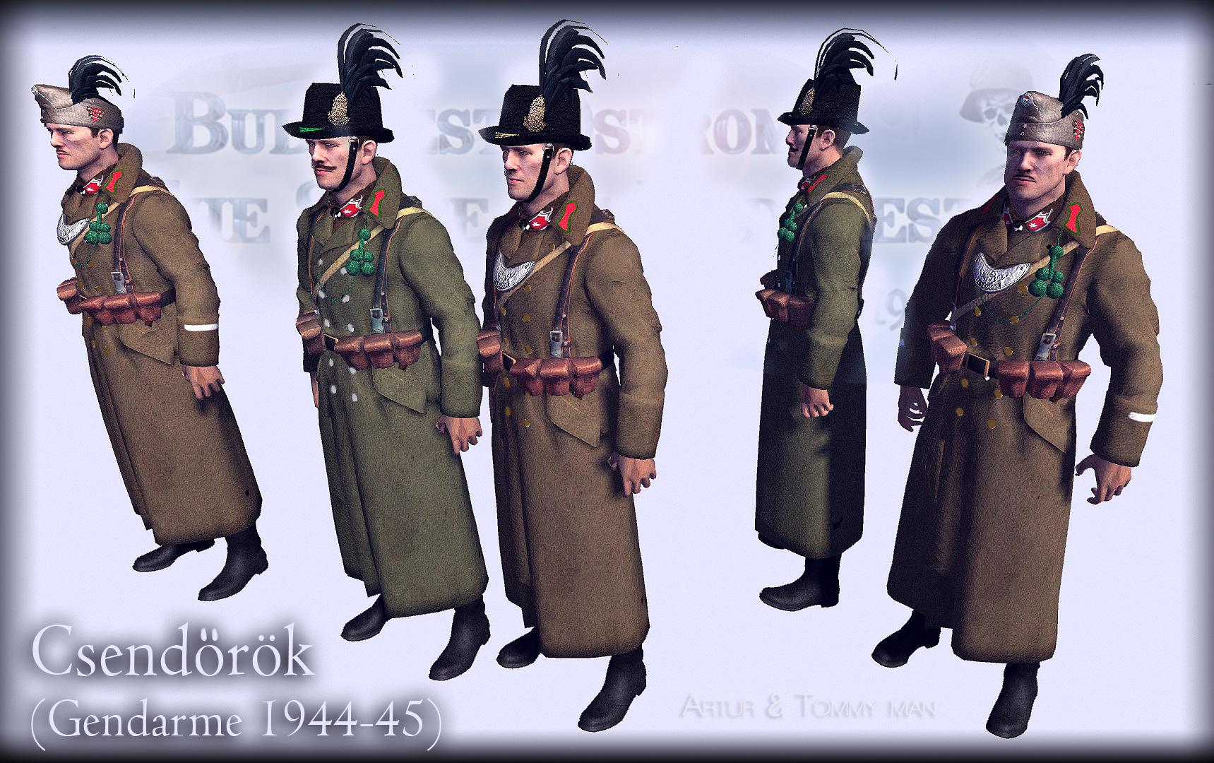 Csendőr kBudapest 1945 ostroma,game jatek,