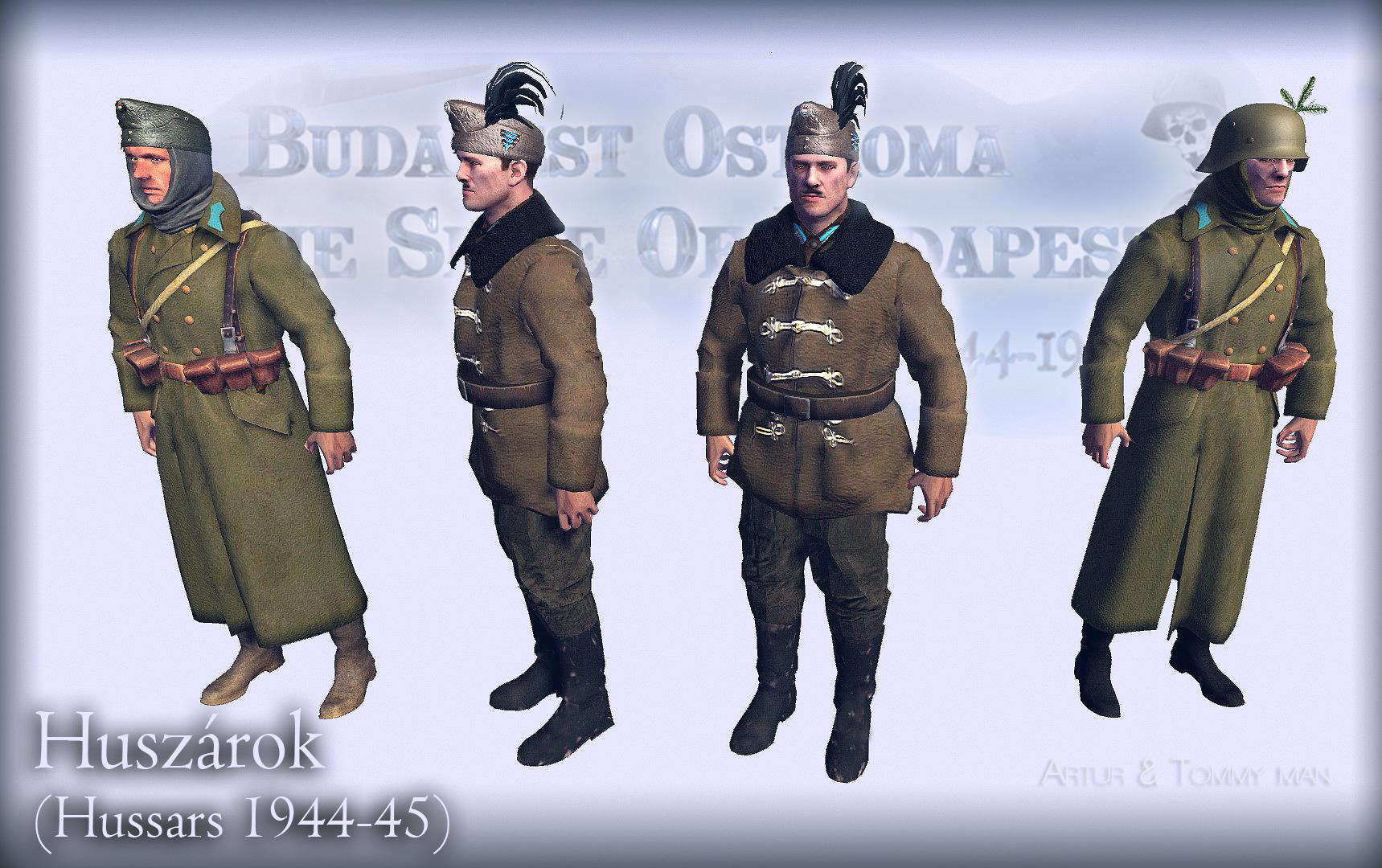 Huszárok Budapest ostromban,1944,45 Hungary men of war.