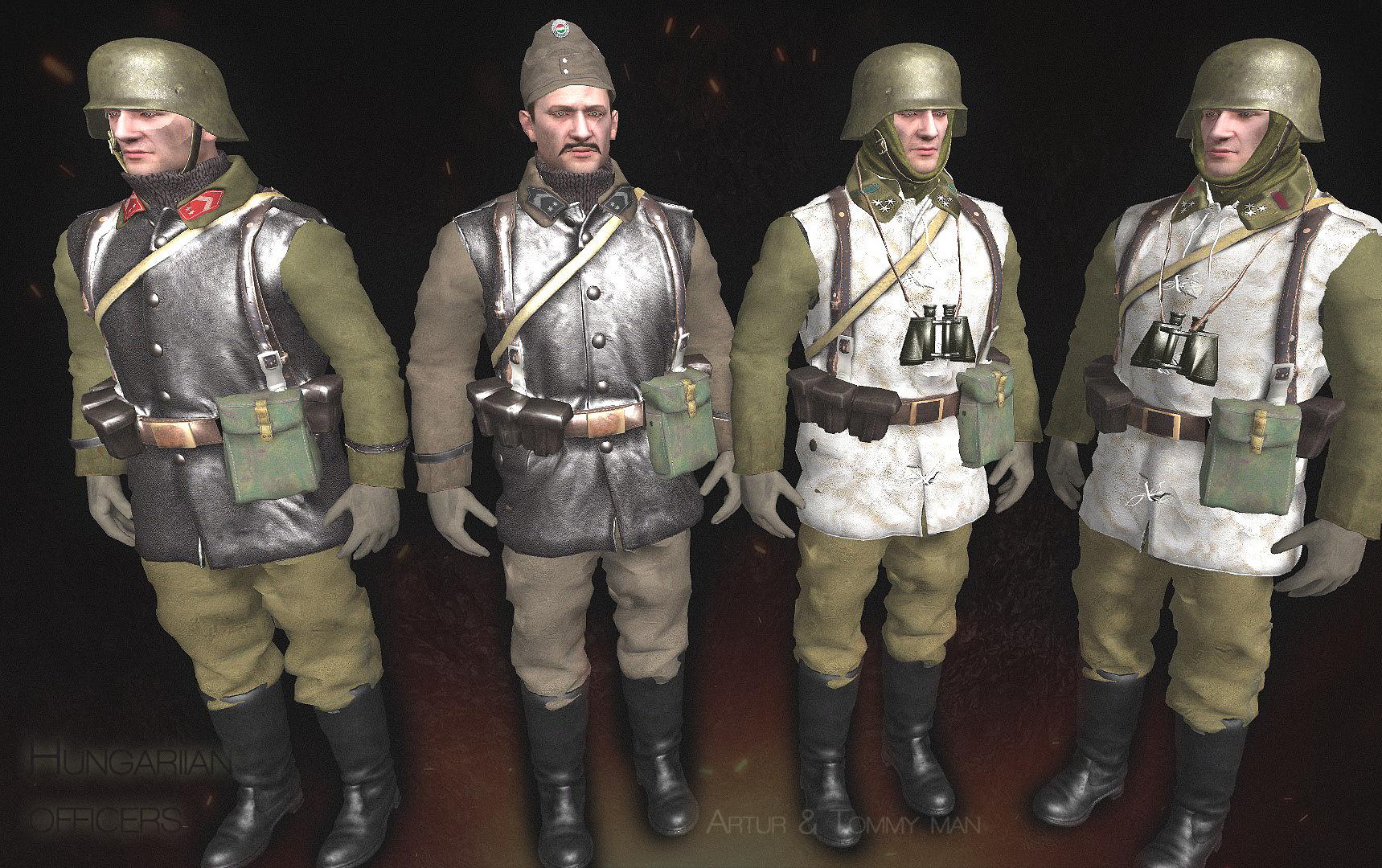 Hungarian officers,Budapest 1944-45,Siege,Jatek.