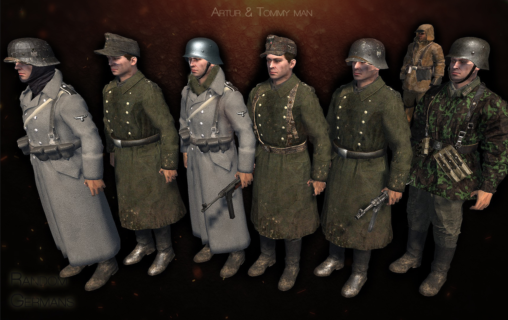 Random german units, budapest siege game.