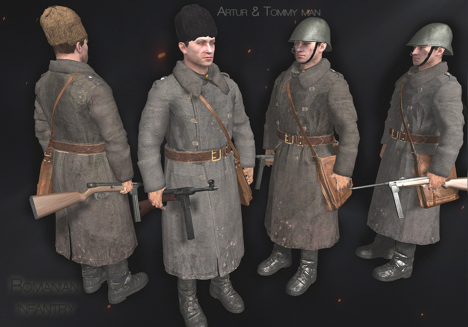 Romanian infantry budapest, 1944-45 models men of war,