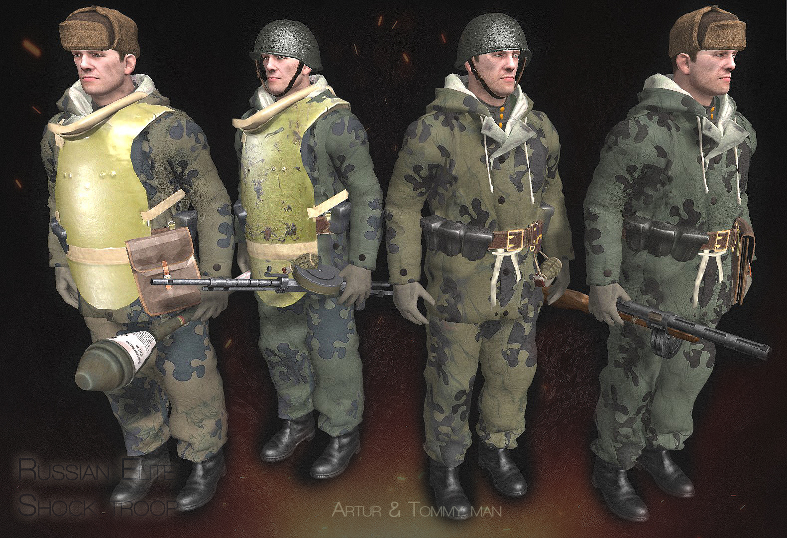 russian elite shock assault troops, models budapest siege, mod, game