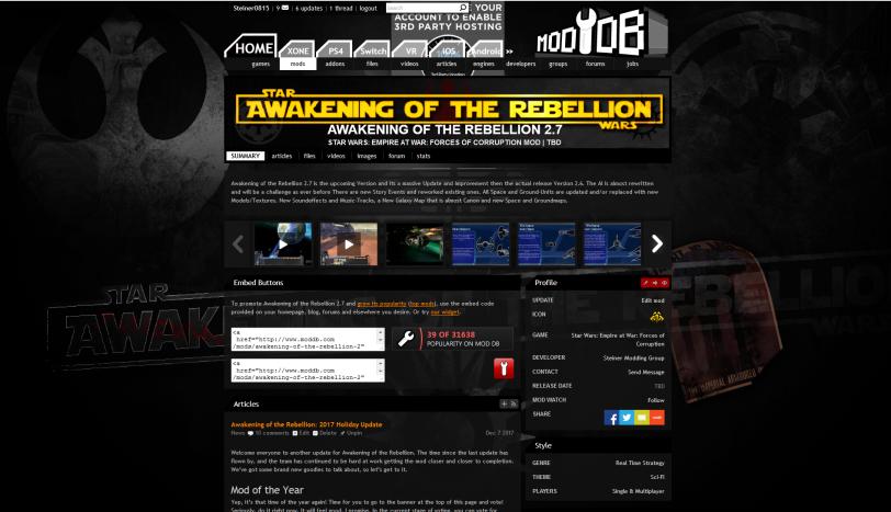 New ModDB Page