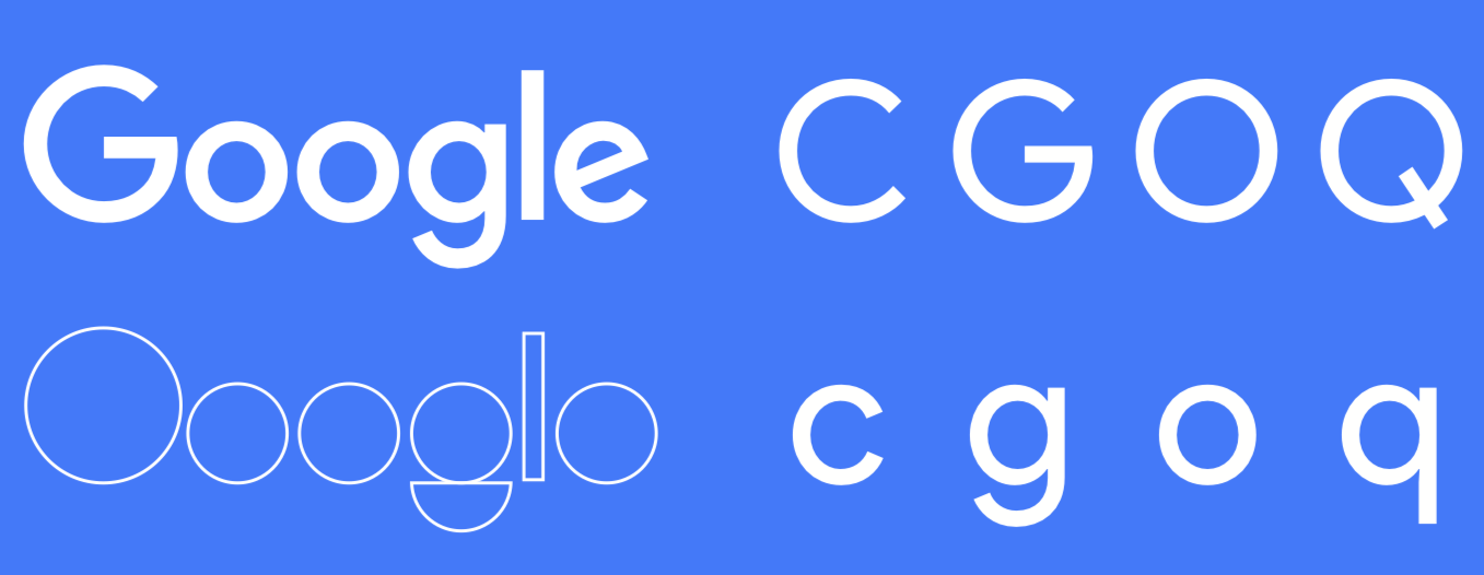 The new Google logo is built on the mathematical purity of geometric circles