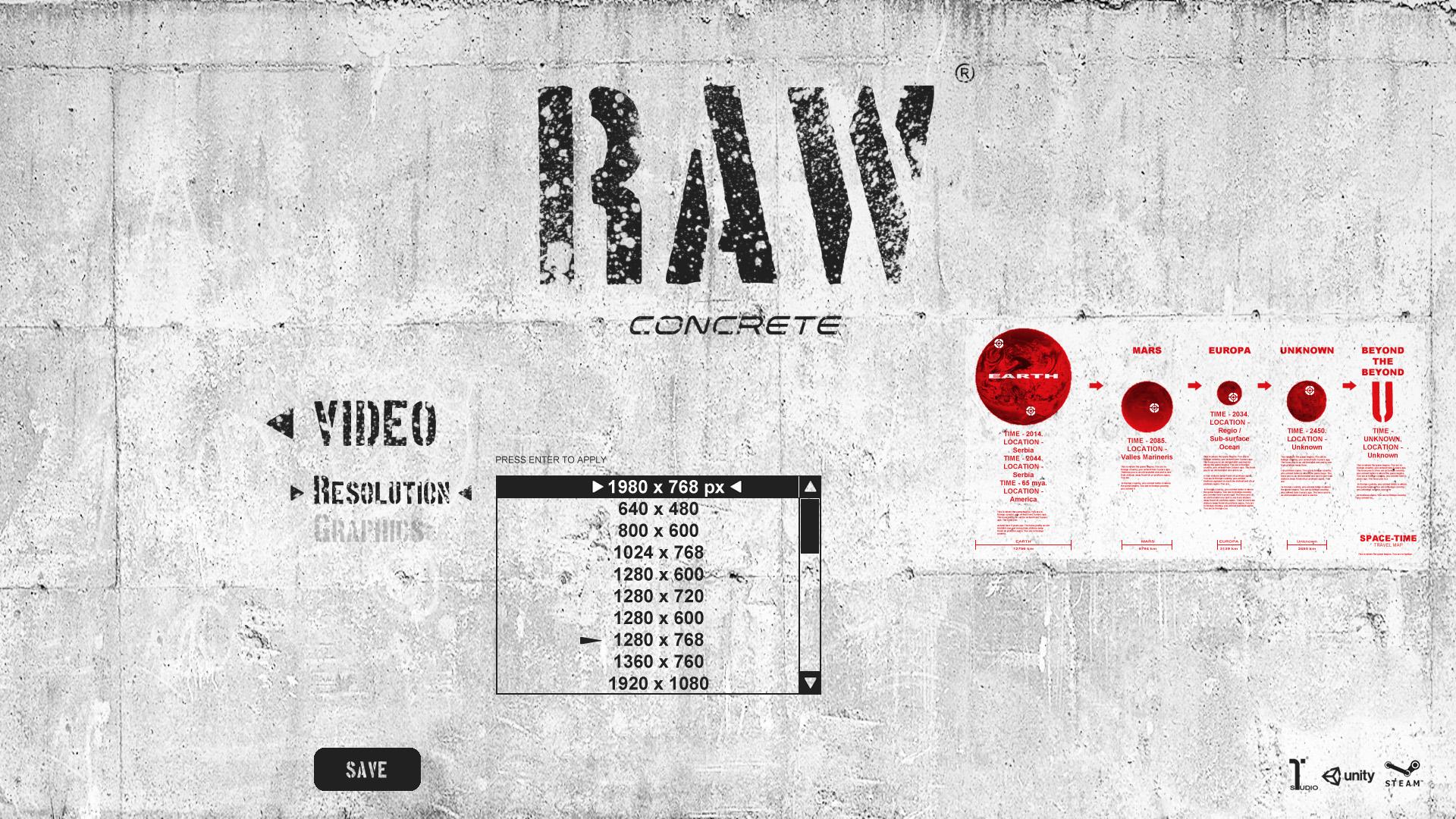 RAWconcrete2Dgame MainMenu8
